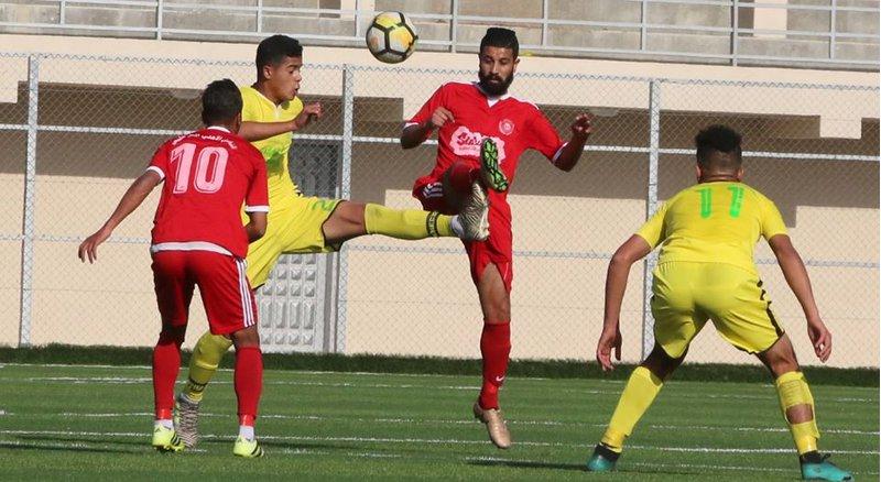 مباراة الأهلي في دوري غزة لكرة القدم