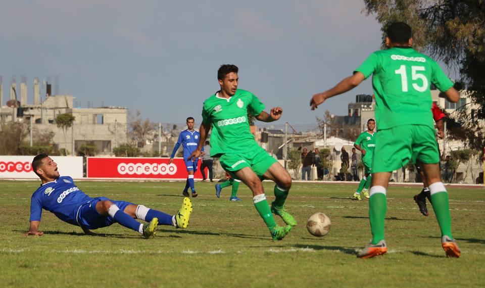 مباراة في دوري غزة لكرة القدم 2019