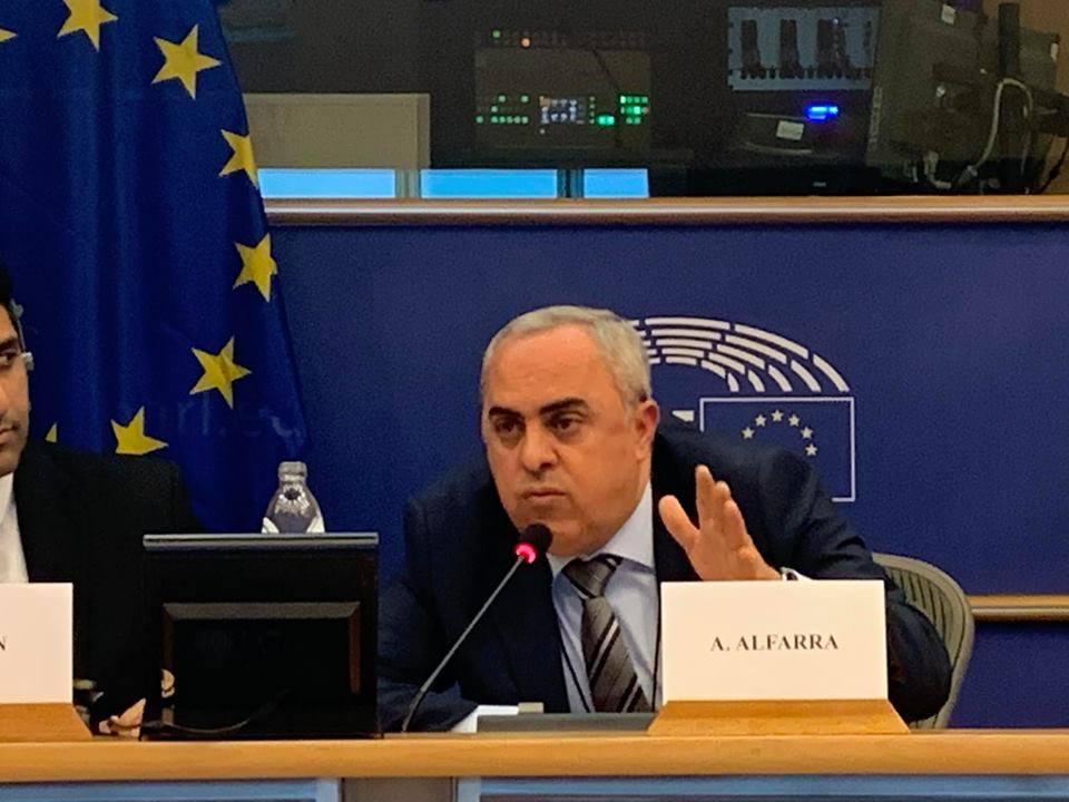 عبد الرحيم الفرا سفير دولة فلسطين في بلجيكا
